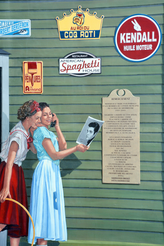 Détail de l'une des treize fresques murales de Sherbrooke