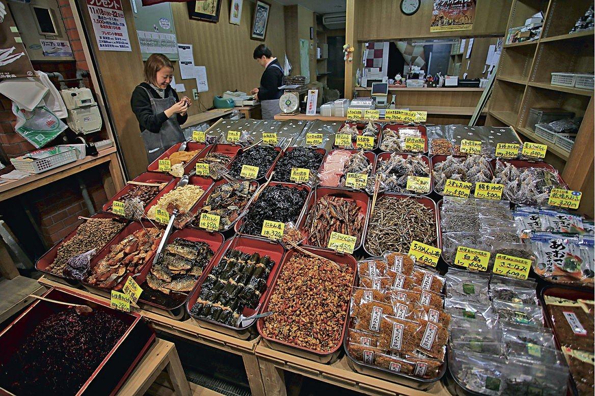 Le marché de Nishiki, connu pour ses fruits de mer