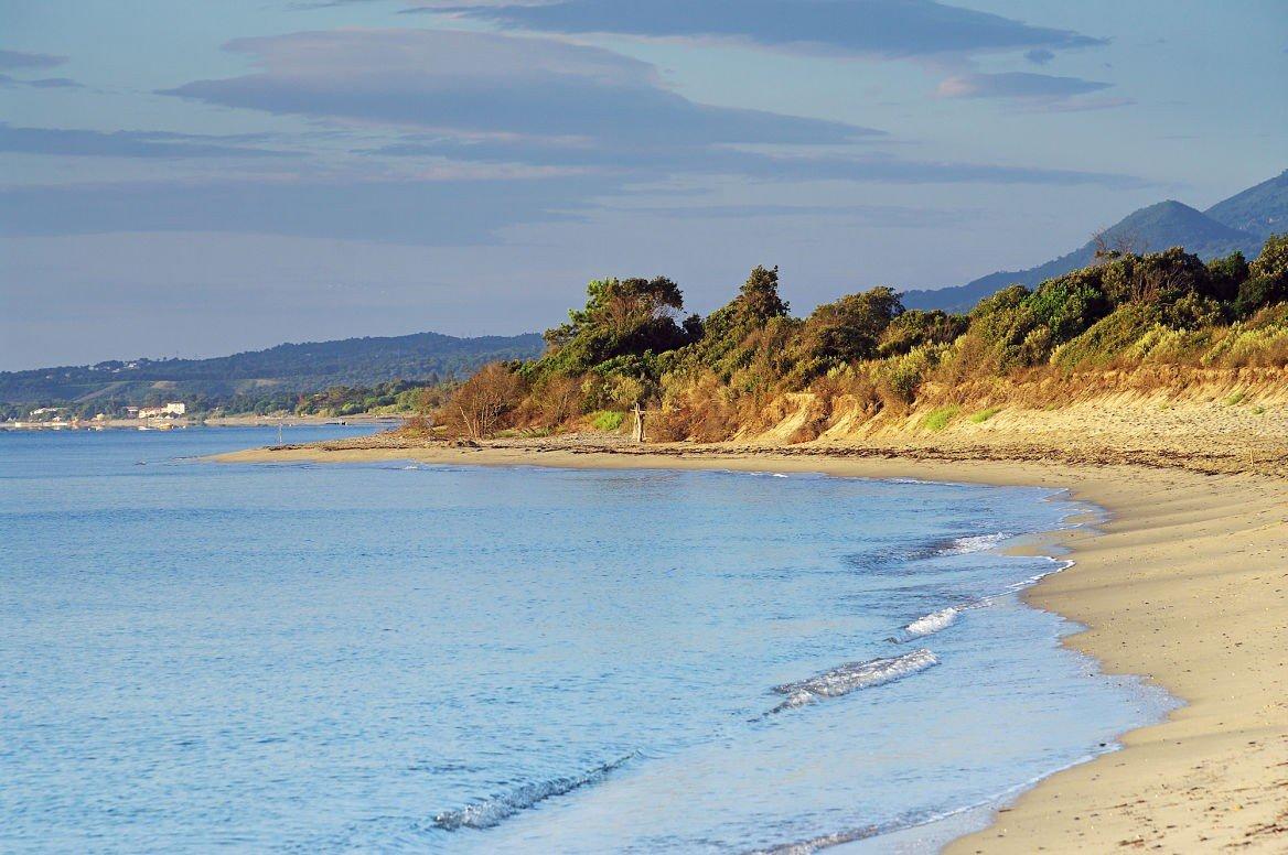 Une plage de la Costa Verde, Corse