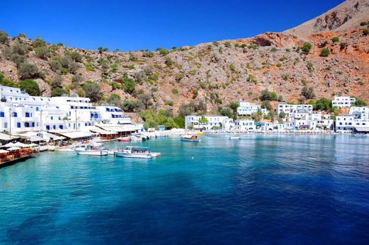 Le village de Loutro, Crète villages