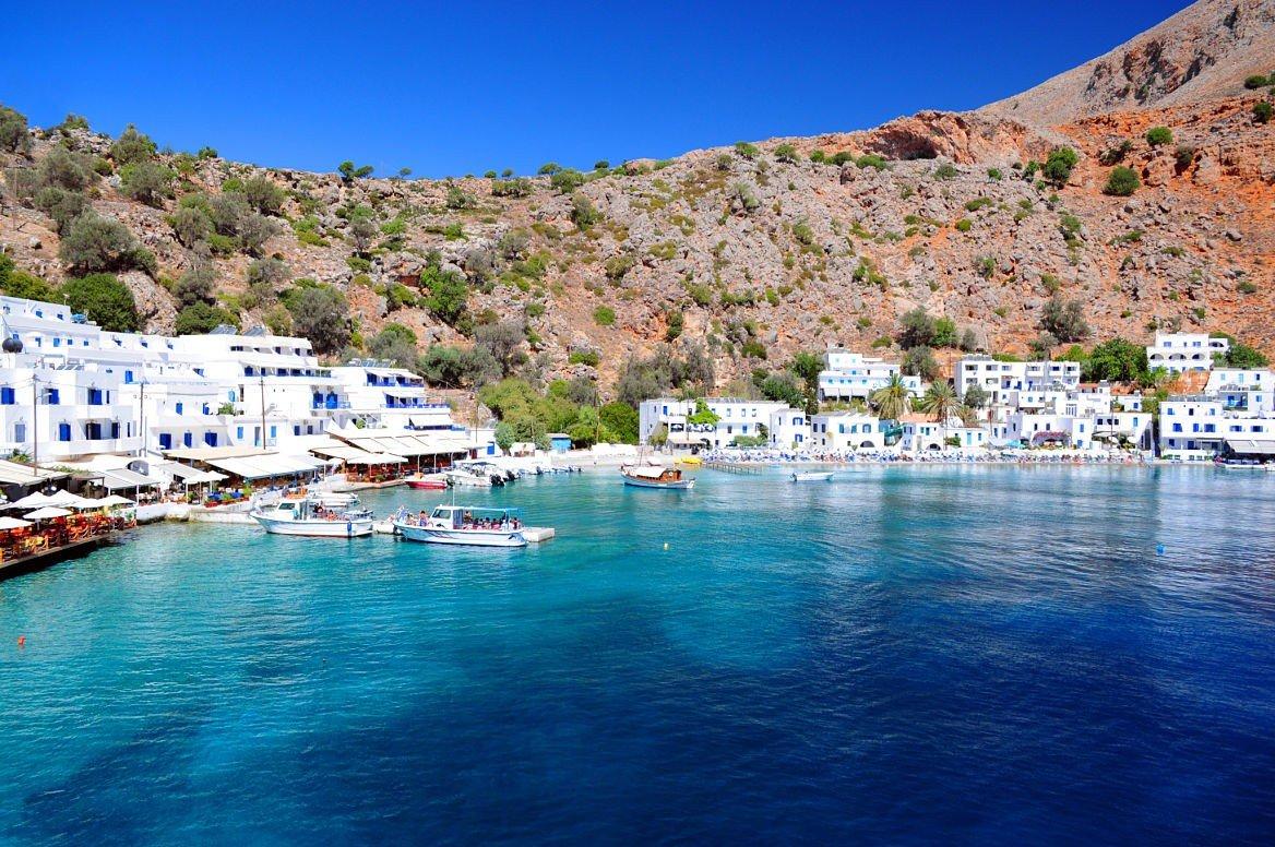 Le village de Loutro, Crète