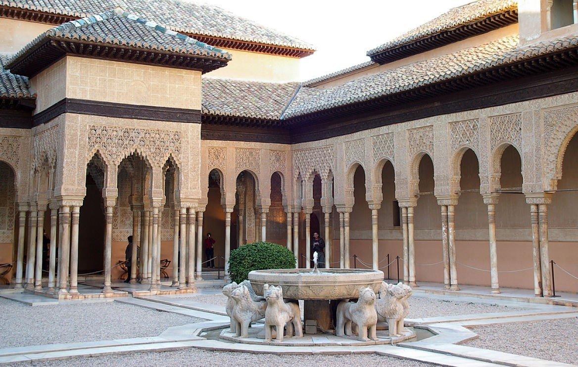 La fontaine aux lions du châtrau d'Alhambra, Grenade