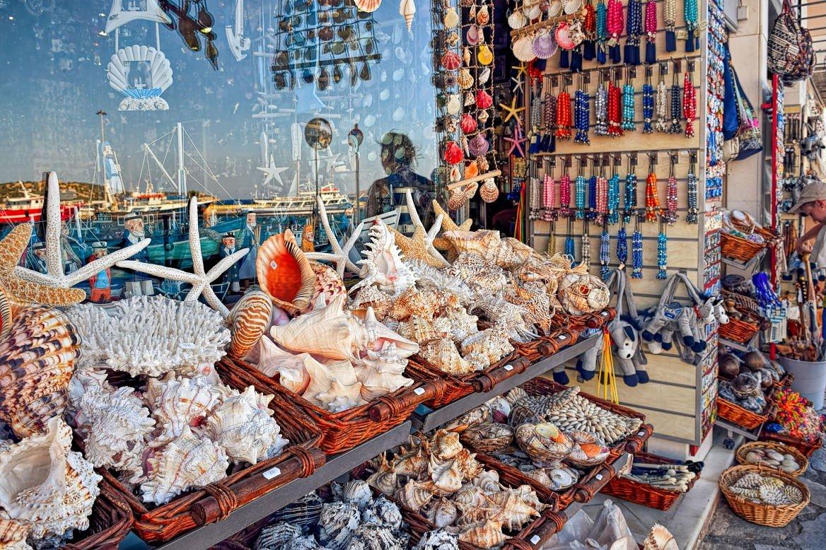 Boutique de coquillages et komboloï