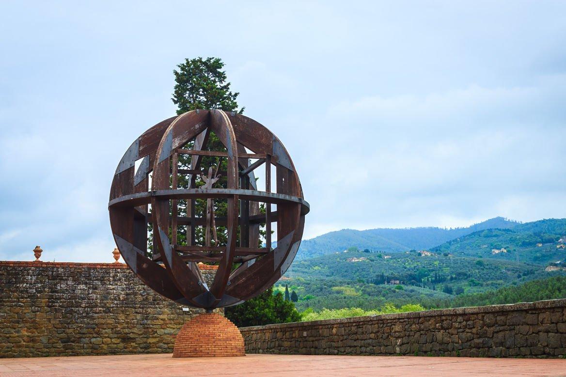 Une oeuvre du célèbre Leonard de Vinci en Toscane.
