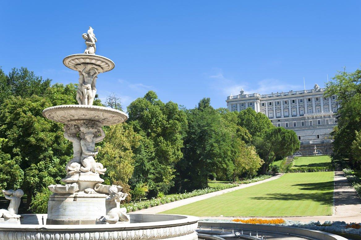 Le parc du Campo del Moro à Madrid
