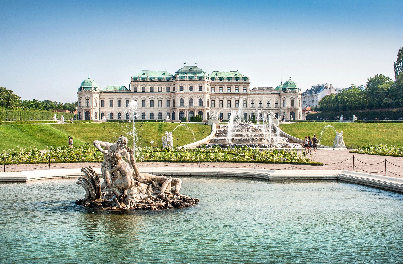 La fontaine du Belvédère à Vienne en Autriche