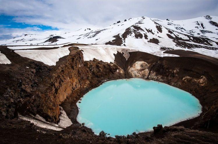 Le lac volcanique d'Aska