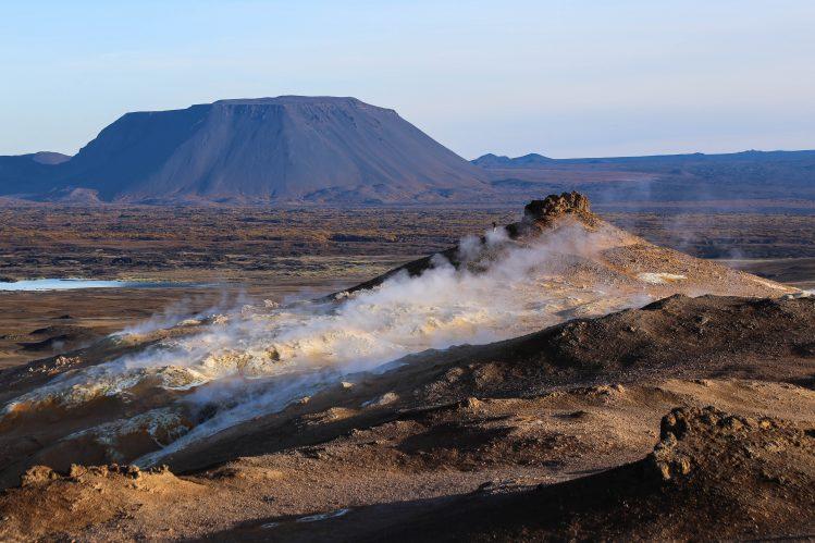 Le Paysage du Namafjall vers Hverir, nord-est de l'Islande