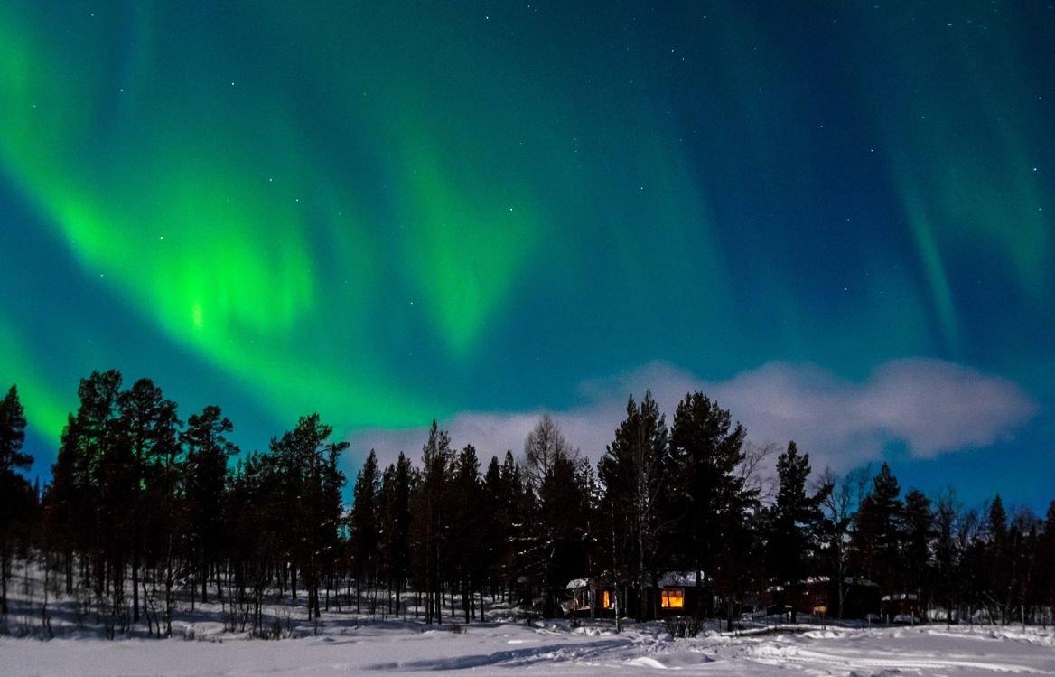 Des aurores boréales en Islande