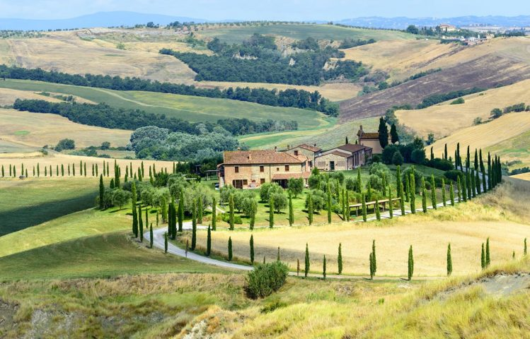 Crete senesi, région de Sienne, Toscane, Italie