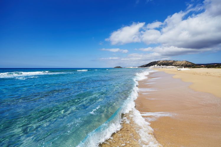 Golden beach peninsule Karpas Chypre
