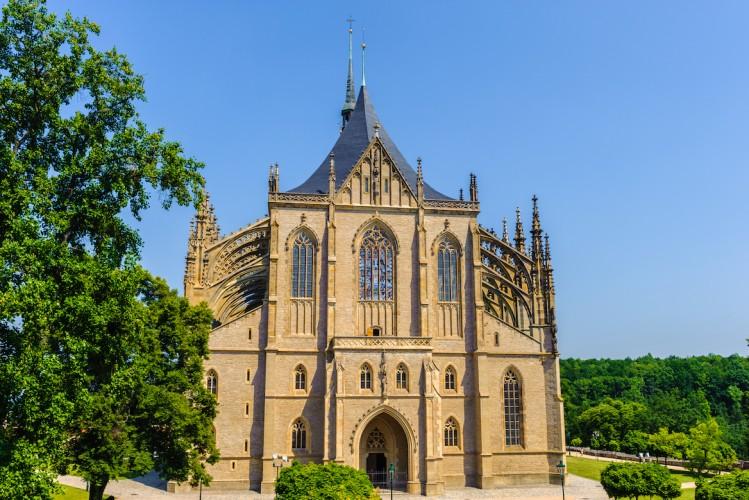 église Sainte Barbe Kutna Hora, environs de Prague, République Tchèque