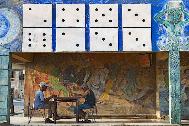 Joueurs Dominos Santiago de Cuba Cuba