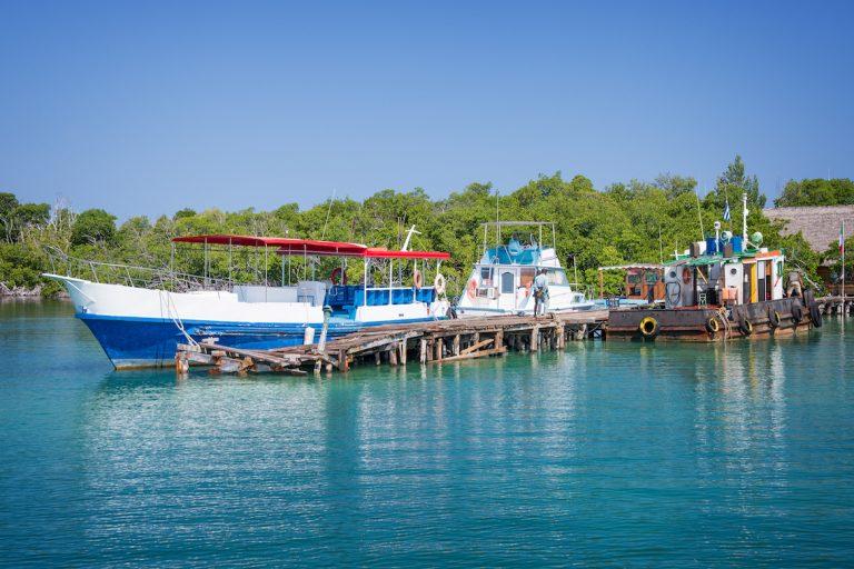 Débarcadère Cayo Levisa Cuba Bateau