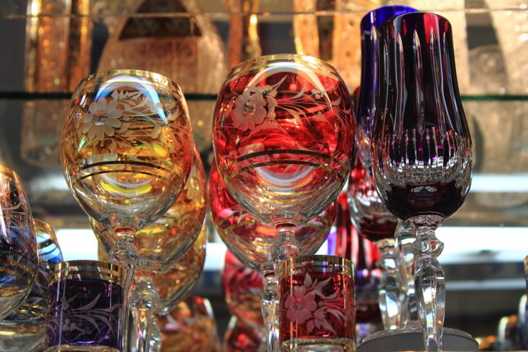 Le crystal de Bohème, souvenir de Prague