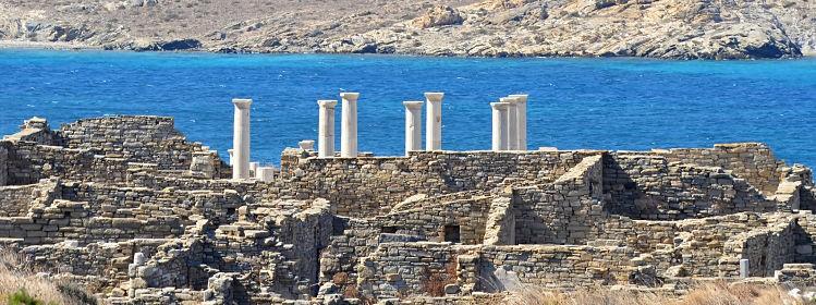 Visiter l'île de Délos dans les Cyclades