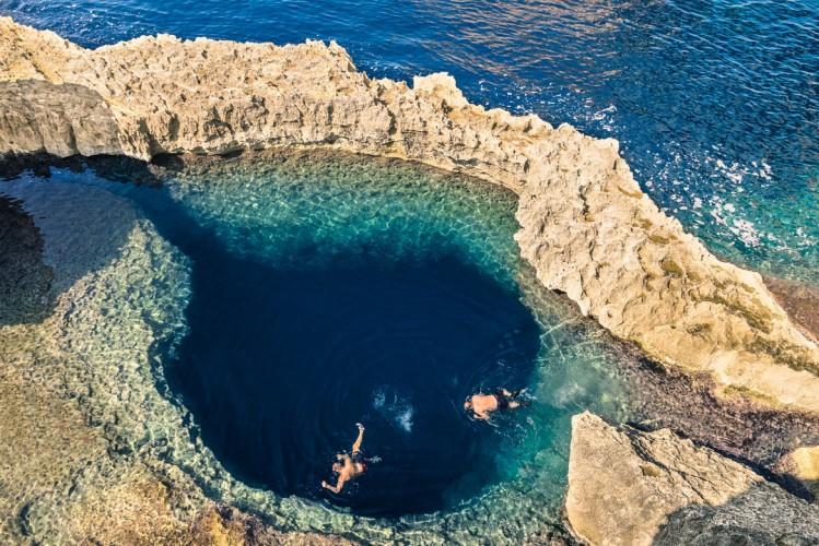 Blue Hole, spot de plongée à Gozo, Malte
