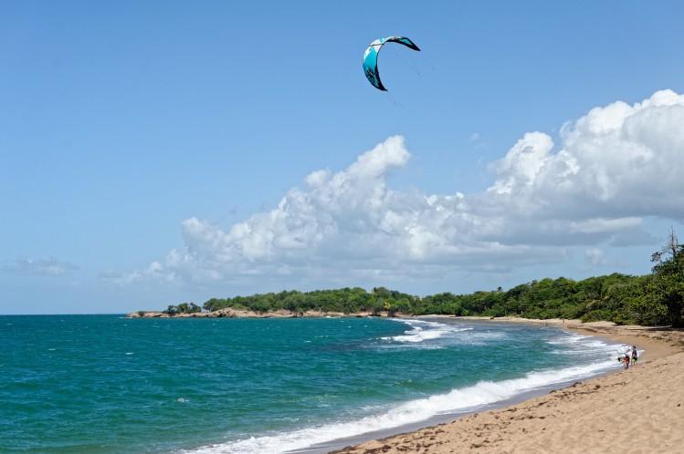 plage guadeloupe kitesurf
