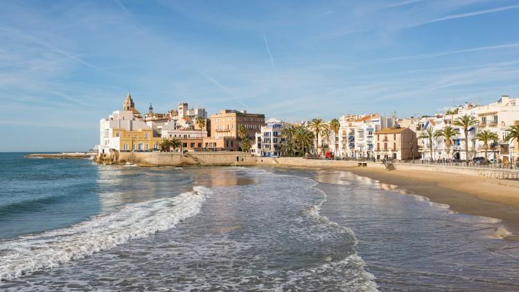 Sitges, cité balnéaire aux environs de Barcelone