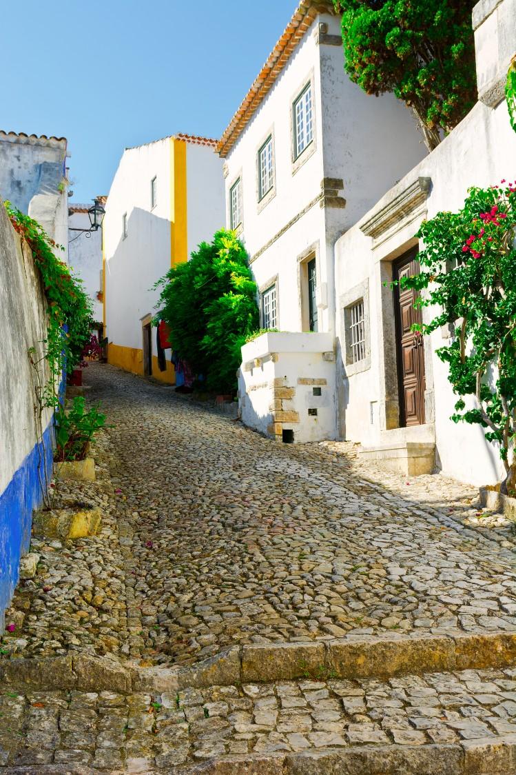 Óbidos portugal rue