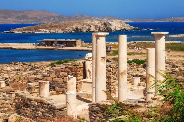 cyclades îles Délos ruines Antiquité