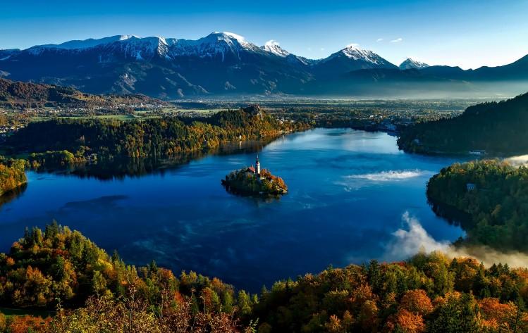 lac de bled slovenie panorama