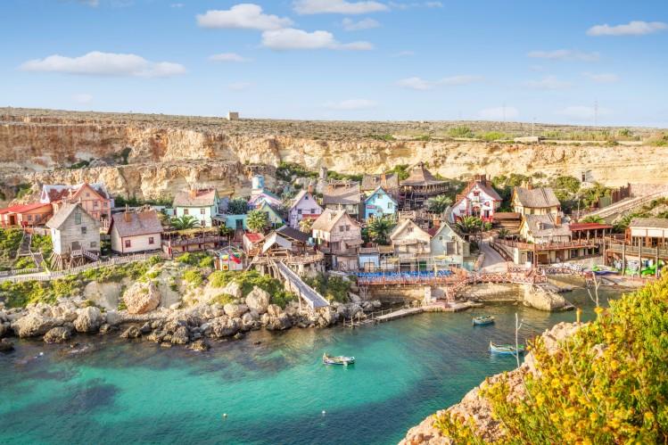 Malte île voyage été vacances village cinéma Popeye