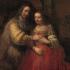 Portrait d'un couple connu comme La fiancée juive de Rembrandt, 1665-1669
