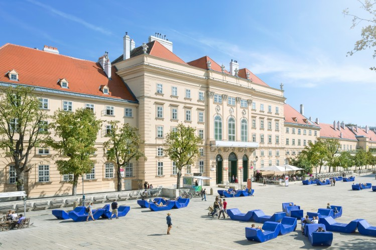 Vienne quartier loger museumsquartier art
