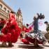 Spectacle de flamenco sur la plaza de Espana, Séville