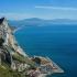 La baie de Gibraltar, avec vue sur la côte sud de l'Espagne