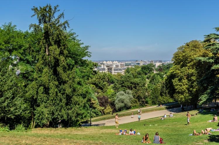 paris buttes chaumont top vertes parc foret ville