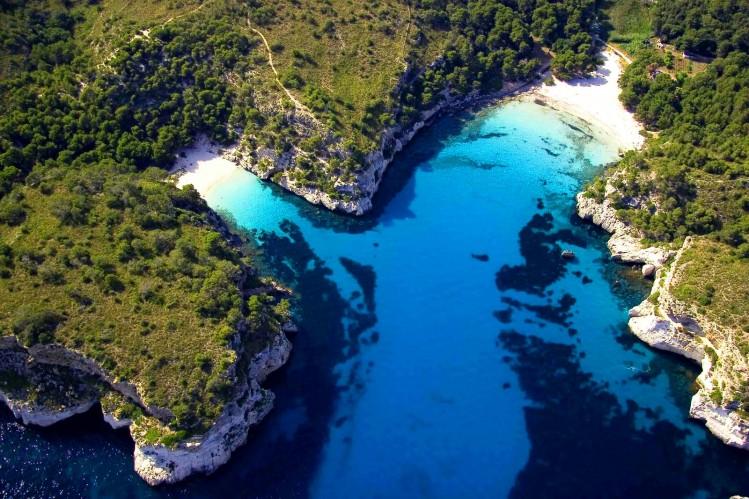 plages baleares crique eau turquoise minorque
