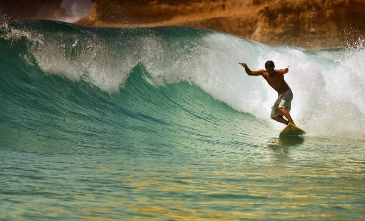 Bali Lombos surf plage Inside