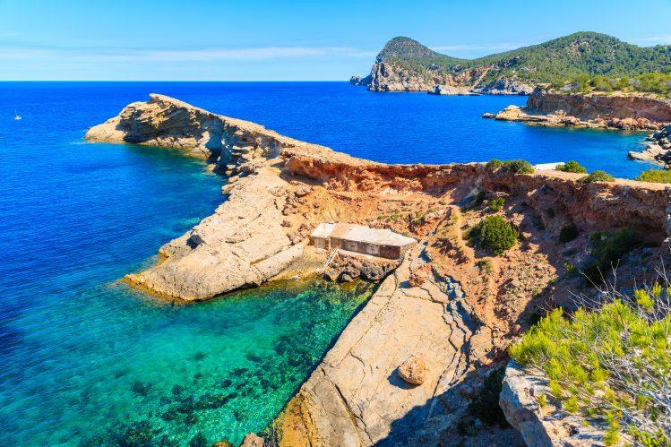 Punta Galera , Ibiza , Espagne plages