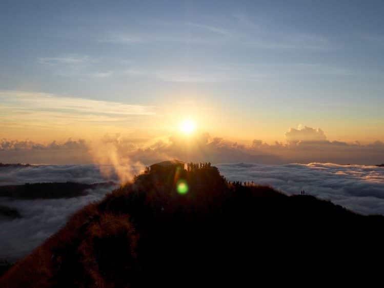 mont Batur Bali lever soleil voyage enfants