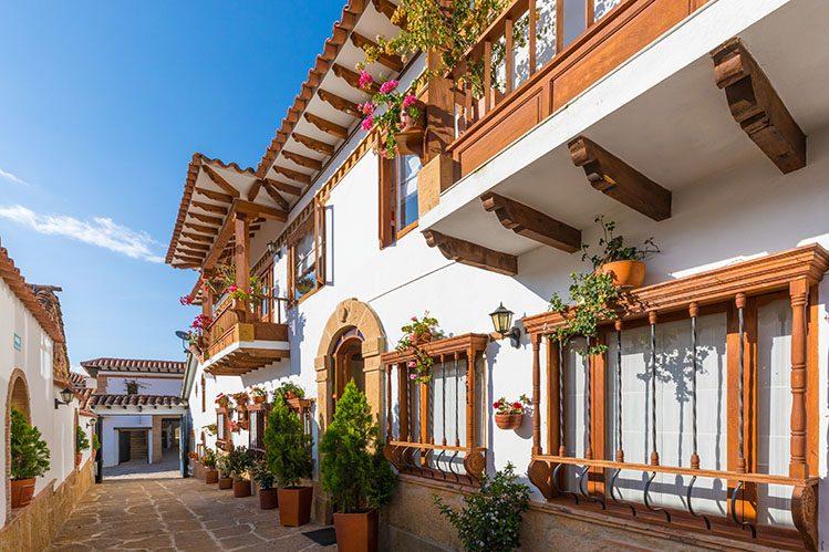 maisons coloniales ville de Leyva Colombie itinéraire 3 semaines