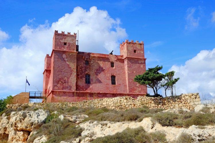 Torri L-Ahmar Tour Rouge Malte randonnee