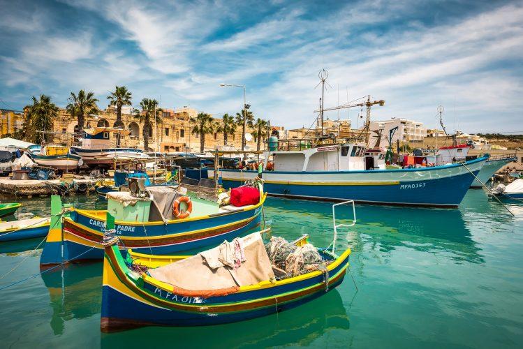 marsaxlokk bateaux villages malte