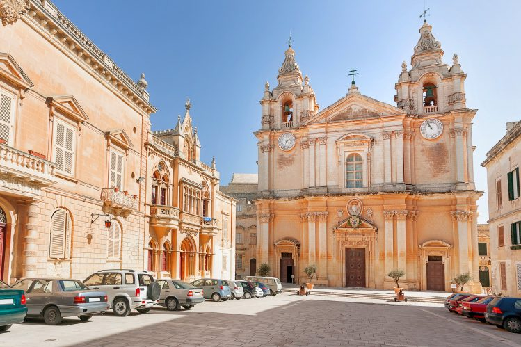 mdina cathedrale saint paul villes villages malte