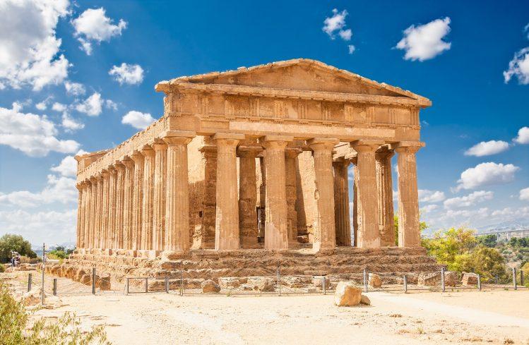 culture famille temple ercole agrigente sicile