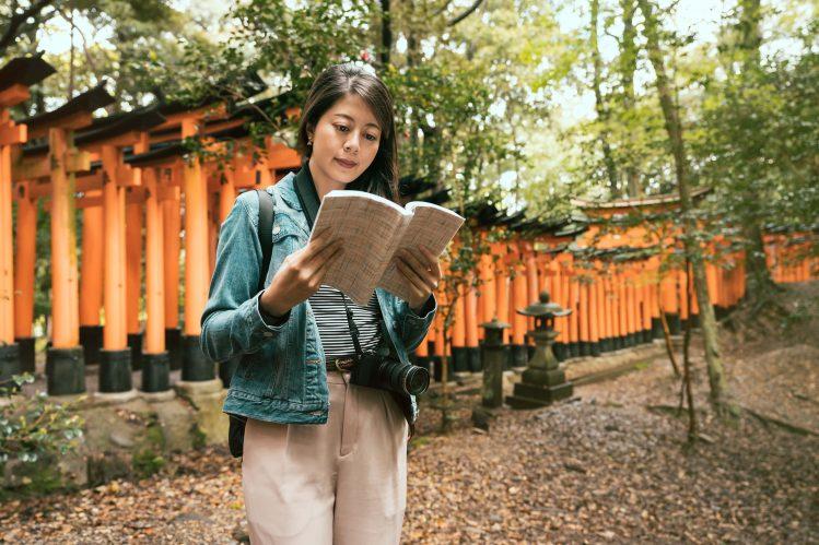 sanctuaire fushimi inari taisha kyoto japon livres
