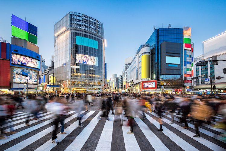 japon enfants Tokyo Shibuya crossing