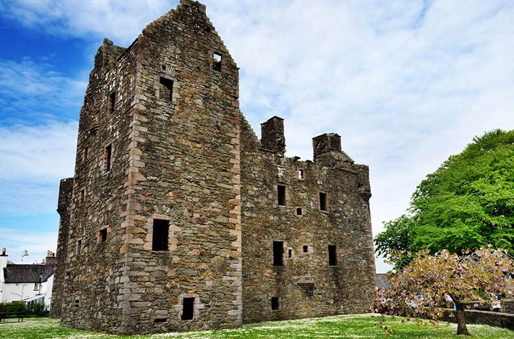 MacLellans Castle, Kirkcudbright, Écosse villages
