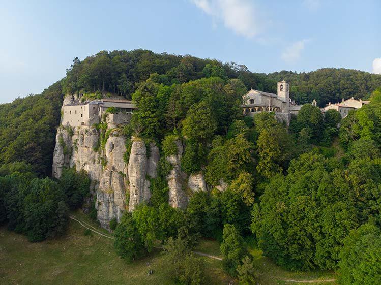 sanctuaire de Verna Toscane randonnée