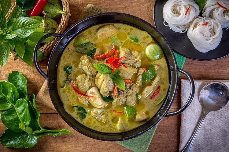 curry vert spécialités culinaires Thaïlande