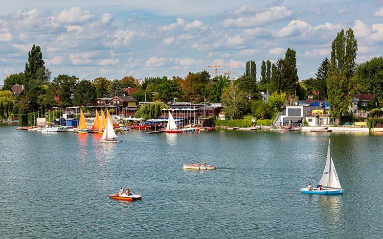 Donau Insel Vienne été