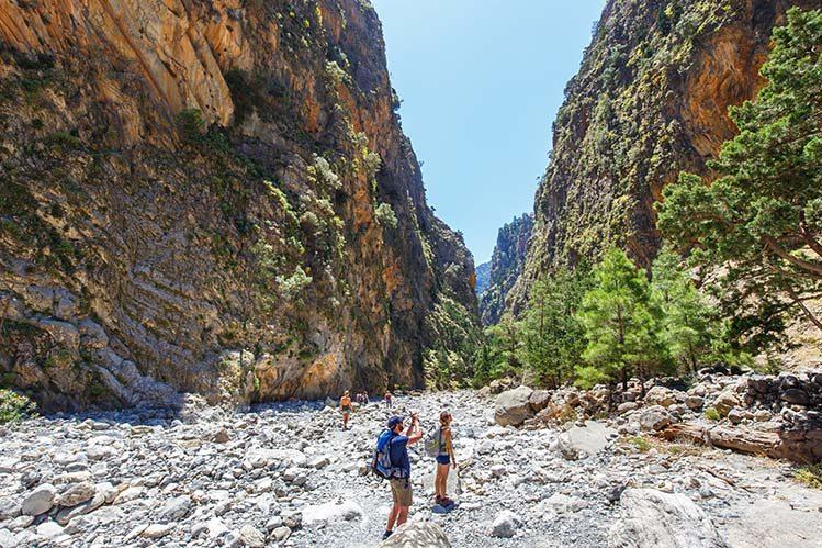 gorges Samaria crète randonner