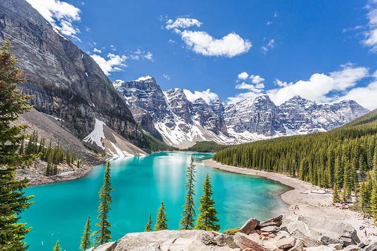 lac moraine parcs nationaux Banff Québec canada