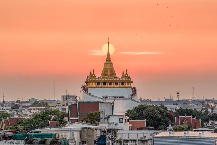 wat saket Bangkok gratuit Thaïlande